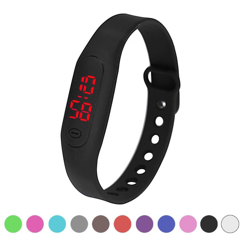Mens woman sport watches 2019 Silicone ladies digital watch LED