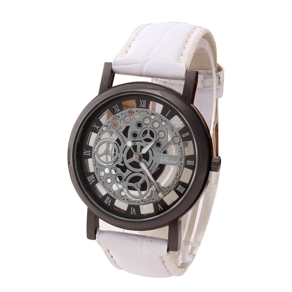 Men Luxury Stainless Steel Quartz Military Sport Leather Band Dial Wrist Watch