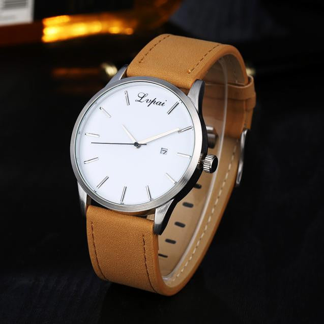 Luxury Women's Men's Watches Analog Quartz Leather Sport