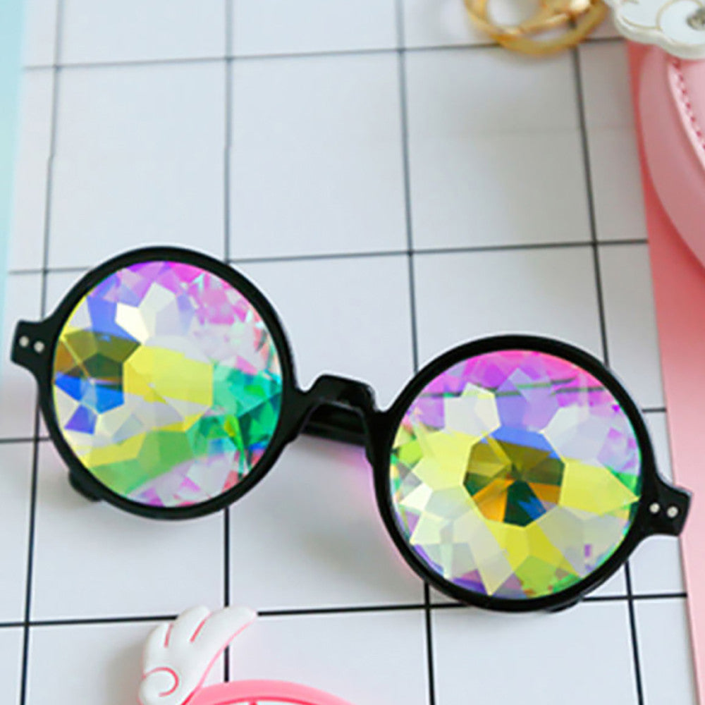 Kaleidoscope Glasses Rave Festival Party EDM Sunglasses Diffracted Lens