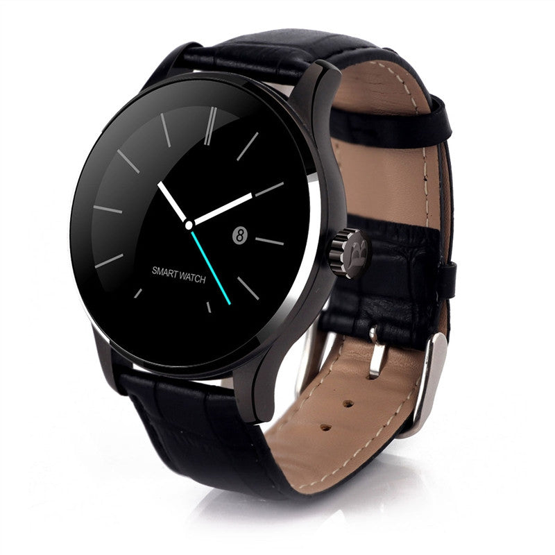 K88H Smart Watch Round IPS Touch Screen Bluetooth Wristwatch Support Heart Rate Monitor