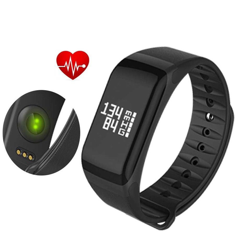 F1 Waterproof Bluetooth Heart Rate Blood Pressure Monitor Smart Bracelet Fitness Tracker