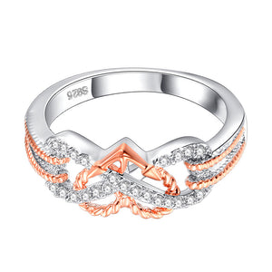 Heart Jewelry Rings Fashion Crystal Engagement Ring Wedding Ring
