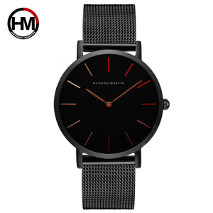 Men'S Business Stainless Steel Mesh Waterproof Watch