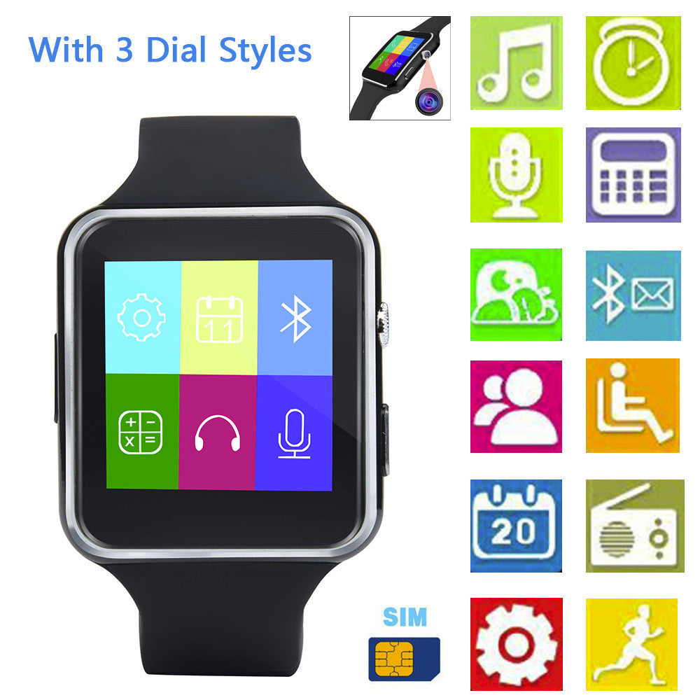 2018 X6 BT3.0 Smart Watch GSM SIM Phone Mate For IOS Android Smart Phone
