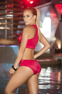 AIS Mapale Red Two Piece Swimsuit