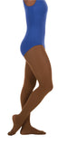 Coffee colored convertible foot dance tights
