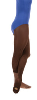 Espresso colored convertible dance tights