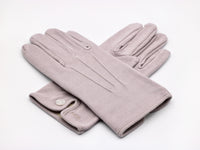 Gray cotton dress gloves
