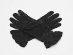 Black cotton crochet gloves
