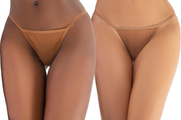 Thongs in matching skintones