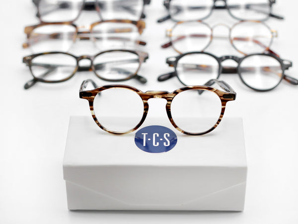 our curated selection of glasses ranging from styles for the 1920's to the 1980'a