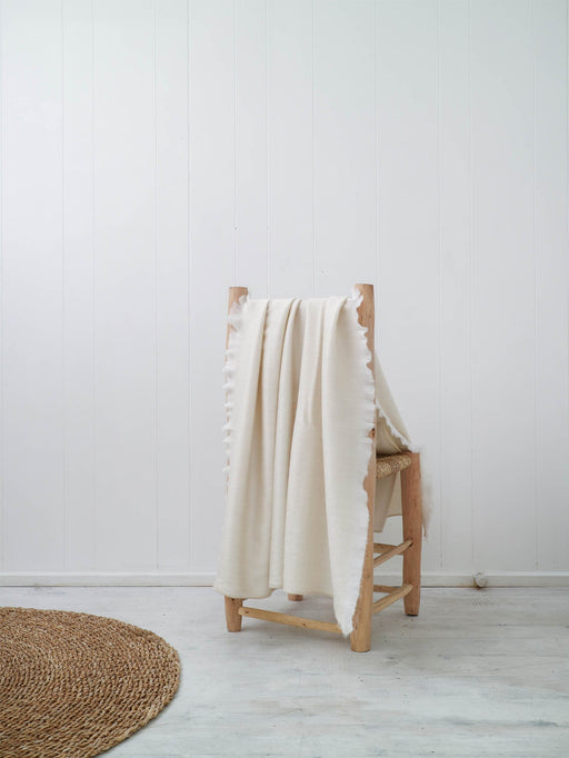 Fringed Throw | Cream