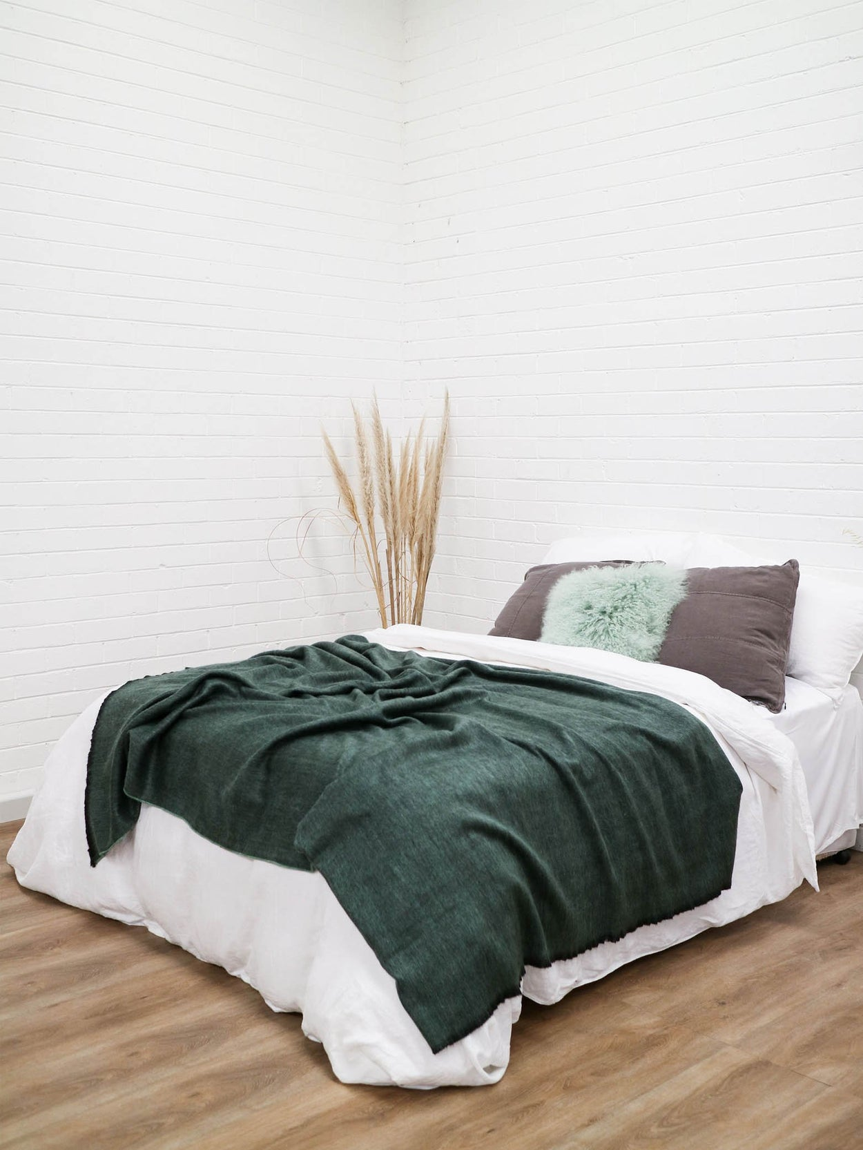 Fringed Throw | Forest