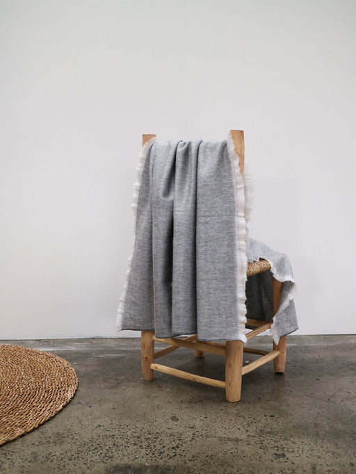Fringed Throw | Grey