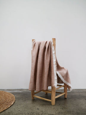 Fringed Throw | Rose Gold Small
