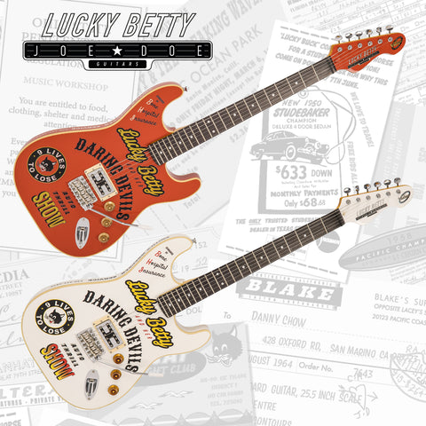 Inspired by 'Wall of Death' rider and guitarist Betty La Foy.