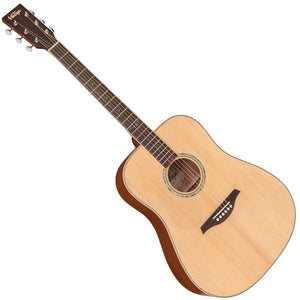 Vintage V501 Acoustic Dreadnought ~ Satin Natural - Left Hand