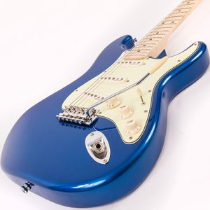 Vintage V6 John Verity Signature Electric Guitar ~ Candy Apple Blue