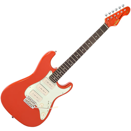 Vintage V6P ReIssued Electric Guitar ~ Firenza Red