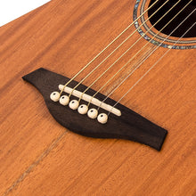 Load image into Gallery viewer, Vintage VEC550 Electro-Acoustic Dreadnought Guitar ~ Satin Mahogany