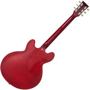 Vintage VSA500 ReIssued Semi Acoustic Guitar ~ Cherry Red