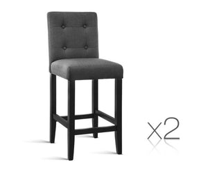Set of 2 French provincial Fabric Bar Stools - Nextlevel Furniture Australia