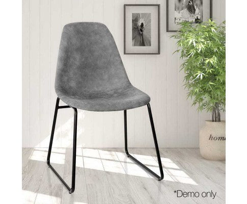 Set of 2 Vinyl Dining Chair - Nextlevel Furniture Australia