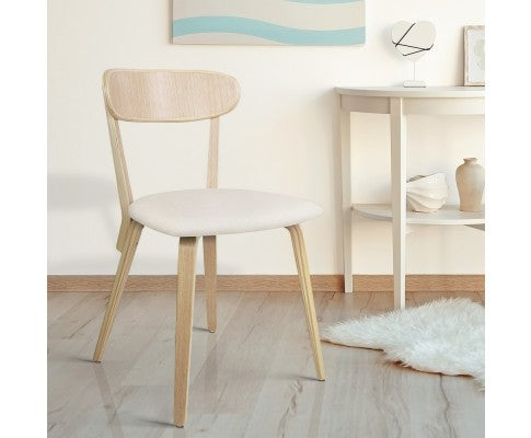 Set of 2 Timber Wood Dining Chair - Nextlevel Furniture Australia