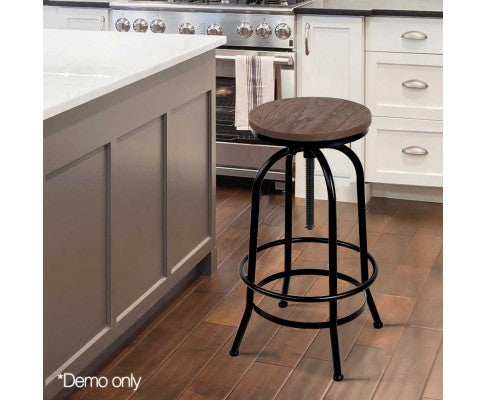 Rustic Industrial Round Bar Stool - Nextlevel Furniture Australia