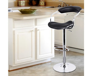 Artiss Set of 2 Vinyl (PU Leather) Bar Stools