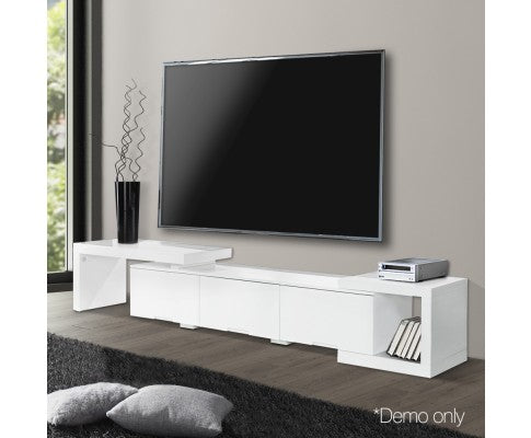 Artiss High Gloss Adjustable TV Stand Entertainment Unit