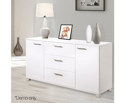 Artiss High Gloss Sideboard Storage Cabinet Cupboard