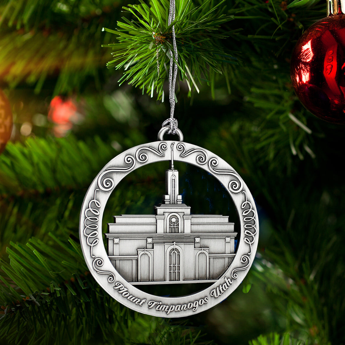 Mount Timpanogos Utah Temple Ornament
