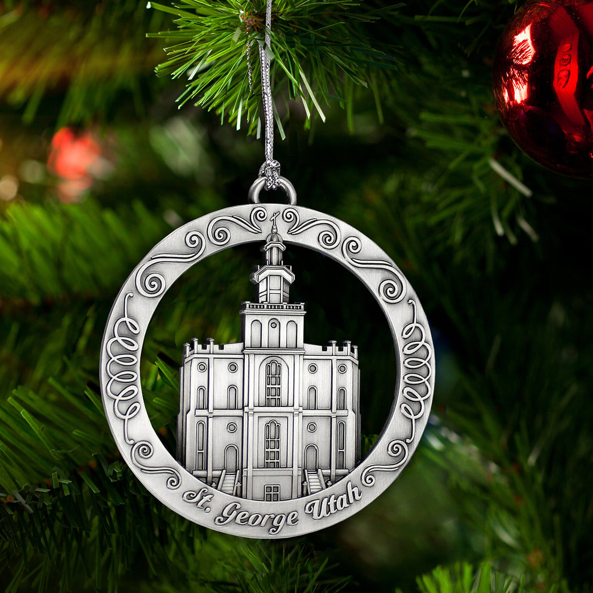 St George Utah Temple Ornament