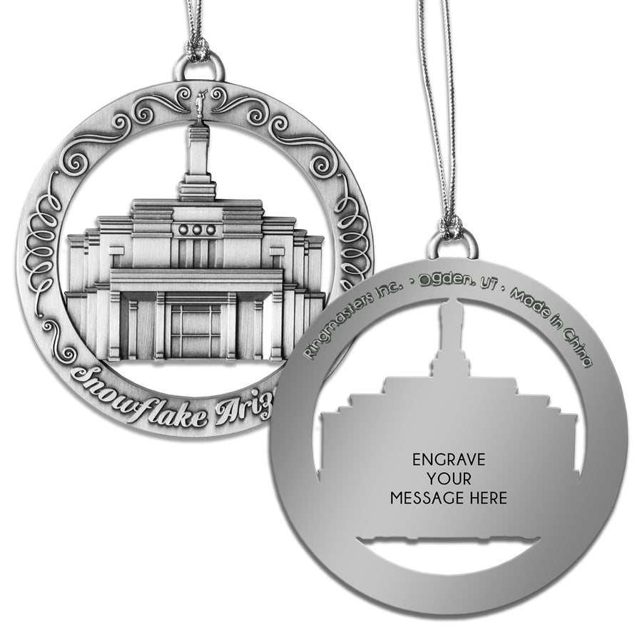 Snowflake Arizona Temple Ornament