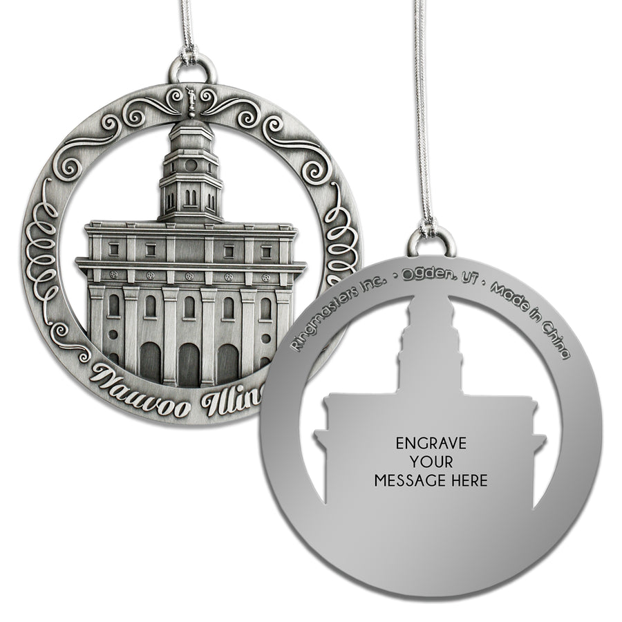 Nauvoo Illinois Temple Ornament