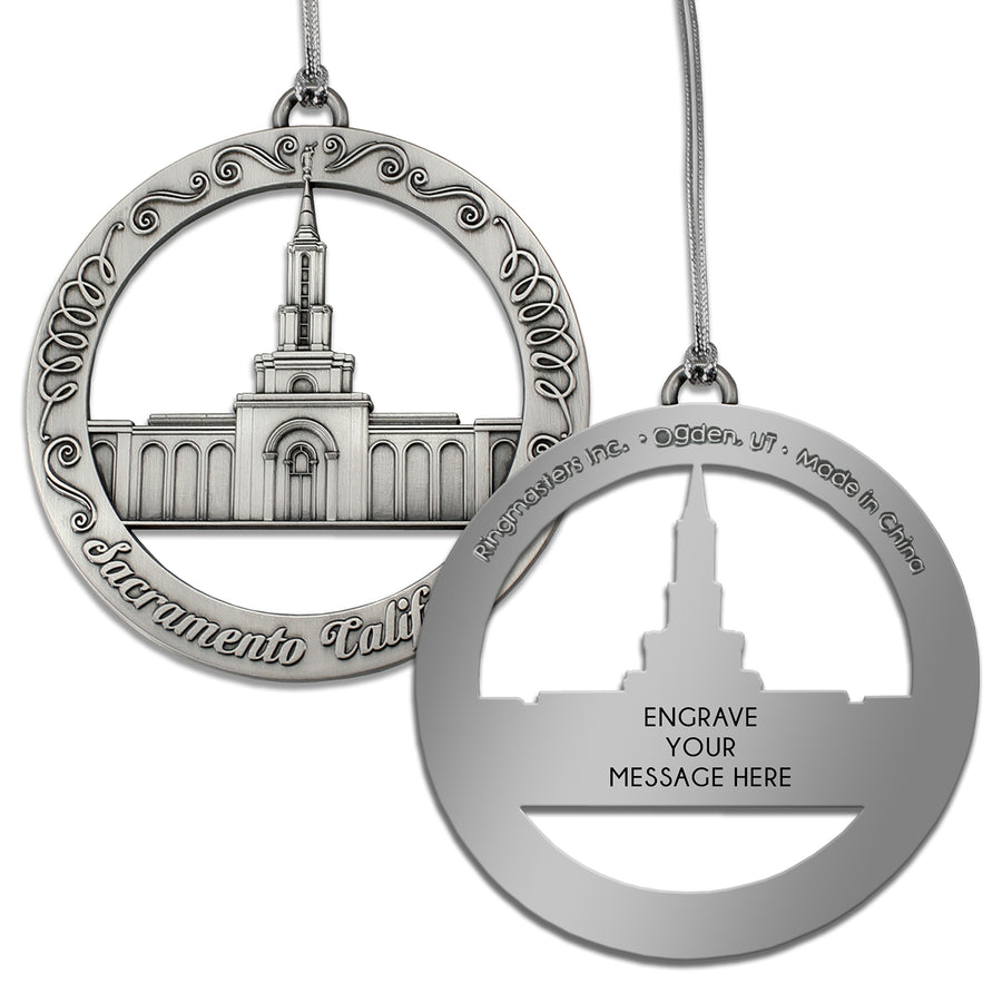 Sacramento California Temple Ornament