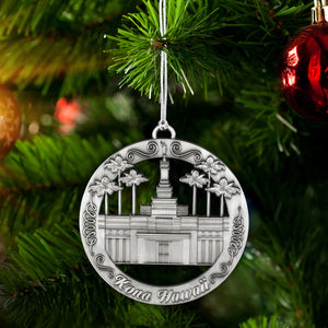 Kona Hawaii Temple Ornament