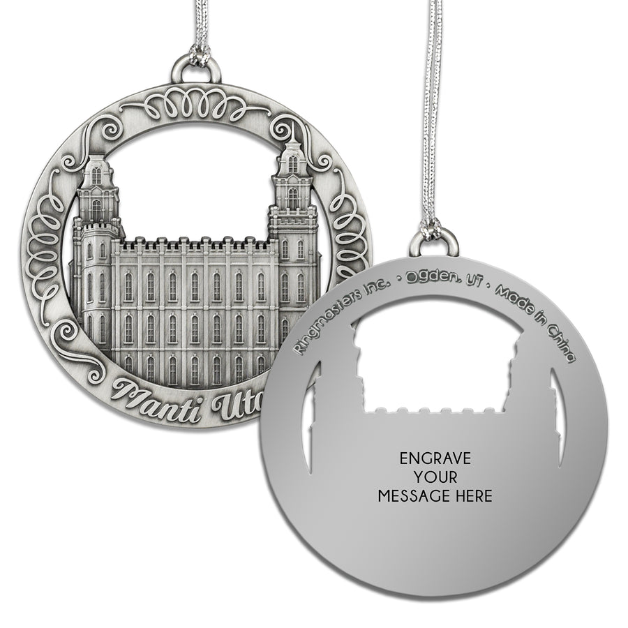 Manti Utah Temple Ornament