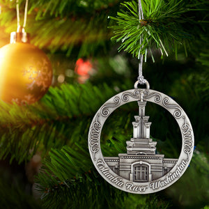 Columbia River Washington Temple Ornament