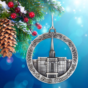 St  Louis Missouri Temple Ornament