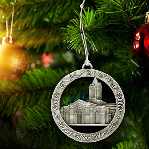 Fort Collins Colorado Temple Ornament