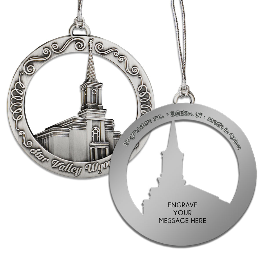 Star Valley Wyoming Temple Ornament