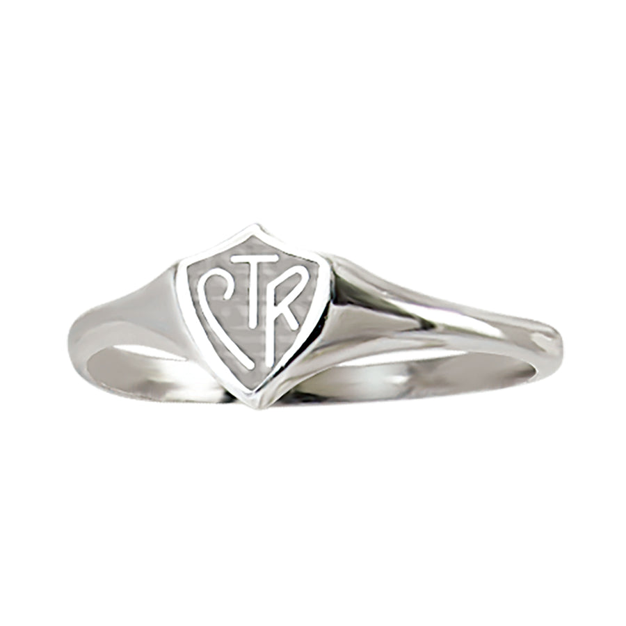Mini Plain Silver CTR Ring - Sterling Silver