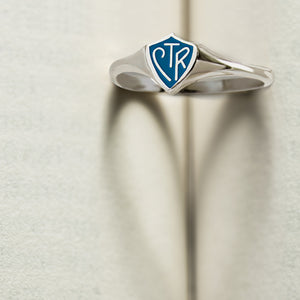 CTR Classic Mini Blue Ring - Sterling Silver