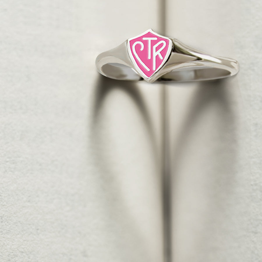 CTR Classic Mini Pink Ring - Sterling Silver