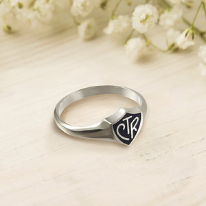 Classic Black Regular CTR Ring - Sterling Silver