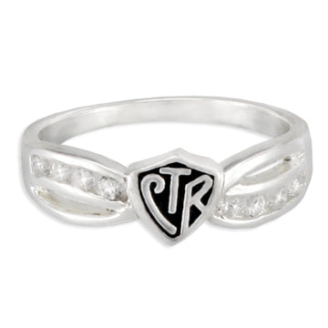 CTR Designer Bow Antiqued Ring - Sterling Silver