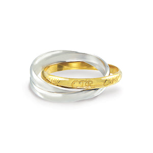 CTR Roll Two Tone ring - Stainless steel